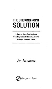 Cover of: The sticking point solution