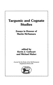 Cover of: Targumic and Cognate Studies |