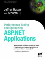 Cover of: Performance Tuning and Optimizing ASP.NET Applications | Jeffrey Hasan