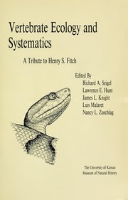Cover of: Vertebrate Ecology and Systematics | Richard A. Seigel