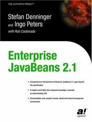 Enterprise JavaBeans 2.1 by Stefan Denninger, Ingo Peters, with Rob Castenada