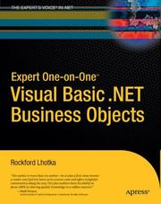 Cover of: Expert One-on-One Visual Basic .NET Business Objects