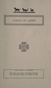 Cover of: The fables of Aesop |