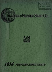 Cover of: A & M reliable seeds | Aggeler & Musser Seed Co
