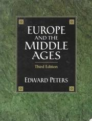 Europe and the Middle Ages by Peters, Edward