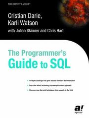 Cover of: The programmer's guide to SQL |