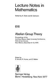 Cover of: Abelian group theory |