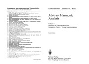 Abstract harmonic analysis by Edwin Hewitt, Kenneth A. Ross