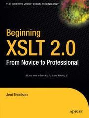 Cover of: Beginning XSLT 2.0: From Novice to Professional (Beginning: from Novice to Professional) | Jeni Tennison