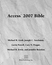 Cover of: Access 2007 bible |
