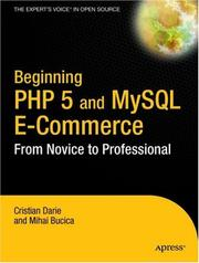 Cover of: Beginning PHP 5 and MySQL E-Commerce | Cristian Darie