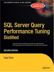 Cover of: SQL Server Query Performance Tuning Distilled | Sajal Dam