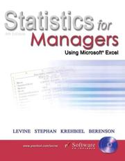 Cover of: Statistics for Managers Using Microsoft Excel, Fourth Edition | David M. Levine