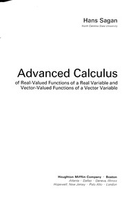 Cover of: Advanced calculus | Hans Sagan