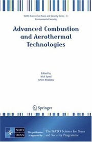 Cover of: Advanced Combustion and Aerothermal Technologies | N. Syred