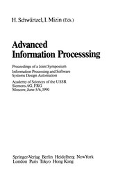 Cover of: Advanced Information Processing | Heinz Schwärtzel