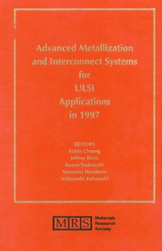Cover of: Advanced metallization and interconnect systems for ULSI applications in 1997 |