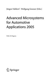 Cover of: Advanced microsystems for automotive applications 2005 | Conference on Advanced Microsystems for Automotive Applications