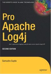 Cover of: Pro Apache Log4j