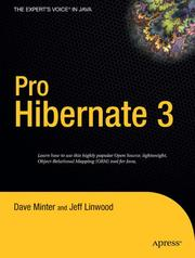 Cover of: Pro Hibernate 3 (Expert's Voice) | Dave Minter, Jeff Linwood