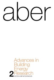 Cover of: Advances in building energy research | M. Santamouris
