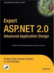 Cover of: Expert ASP.NET 2.0 Advanced Application Design | Dominic Selly