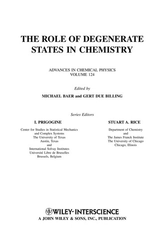 The role of degenerate states in chemistry by edited by Michael Baer and Gert Billing.