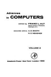 Cover of: Advances in computers | Franz L. Alt