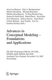 Cover of: Advances in conceptual modeling |