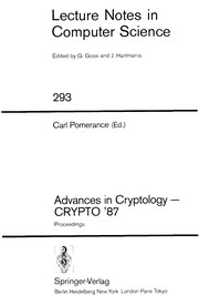 Cover of: Advances in cryptology--CRYPTO