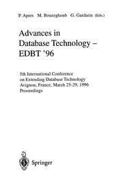 Cover of: Advances in database technology | International Conference on Extending Database Technology (5th 1996 Avignon, France)