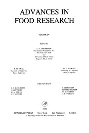 Cover of: Advances in food research