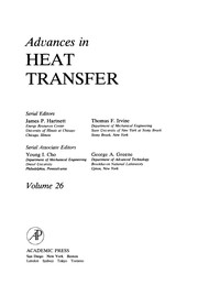 Cover of: Advances in Heat Transfer, 26 | J. P. Hartnett