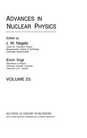 Cover of: Advances in nuclear physics | John W. Negele