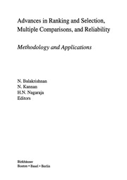 Cover of: Advances in ranking and selection, multiple comparisons and reliablility