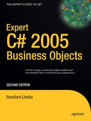 Cover of: Expert C# 2005 Business Objects