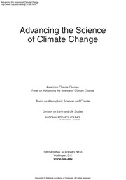 Cover of: Advancing the science of climate change | National Research Council (U.S.). Committee on America