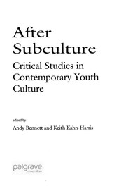 Cover of: After subculture |
