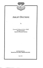 Cover of: Airlift Doctrine | Miller, Charles E.