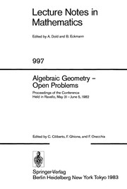 Cover of: Algebraic geometry--open problems |
