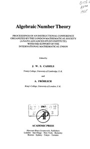 Cover of: Algebraic number theory