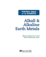 Cover of: Alkali and alkaline earth metals | Monica Halka
