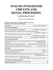Cover of: Analog Design Issues in Digital VLSI Circuits and Systems | Juan J. Becerra