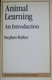 Cover of: Animal learning
