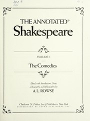 Cover of: The annotated Shakespeare | William Shakespeare