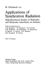 Cover of: Applications of Synchrotron Radiation