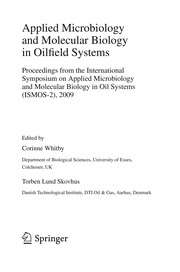 Cover of: Applied microbiology and molecular biology in oilfield systems | International Symposium on Applied Microbiology and Molecular Biology in Oil Systems
