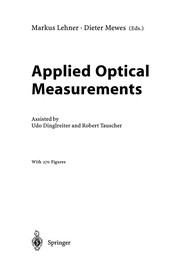 Cover of: Applied Optical Measurements | Markus Lehner