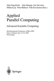Cover of: Applied Parallel Computing | Juha Fagerholm