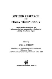 Cover of: Applied Research in Fuzzy Technology | Anca L. Ralescu